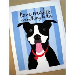 Pit Bull Love Blue Note Cards